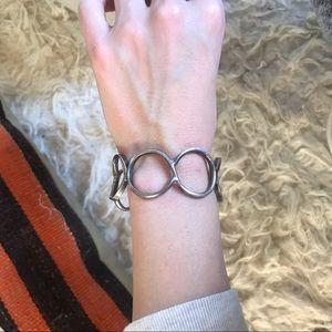 handmade Jewelry - Handmade sterling silver artist bangle bracelet